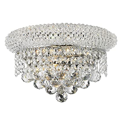 Amazon worldwide lighting empire collection 2 light chrome worldwide lighting empire collection 2 light chrome finish and clear crystal wall sconce light 12quot aloadofball Gallery