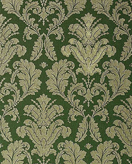 Wallpaper Wall Baroque Damask EDEM 752 38 Luxury Heavyweight Green Gold Platin Grey 533