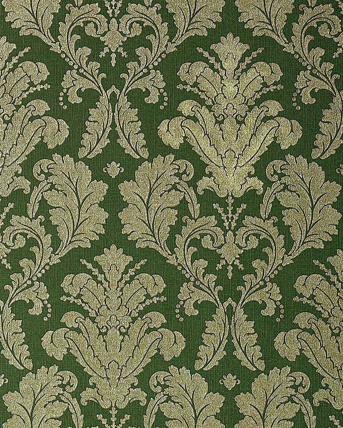 Wallpaper wall baroque damask EDEM 752-38 luxury heavyweight green gold platin-grey 5.33 sqm (57 sq ft)