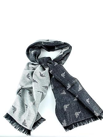 Emporio Armani écharpe homme en laine gris  Amazon.fr  Vêtements et ... 78926f14a37