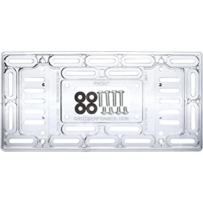 Cruiser Accessories 79000 Universal License Plate Mounting Plate, Clear: Automotive