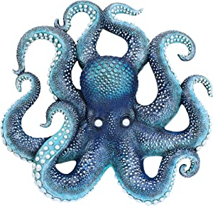 Design Toscano AL96425 Deadly Blue Octopus of the Coral Reef Wall Sculpture, full color