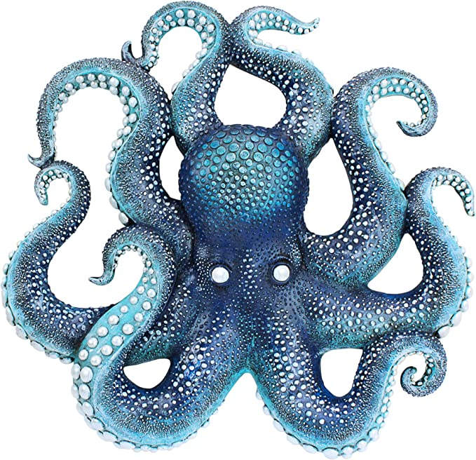 Amazon.com: Design Toscano AL96425 Deadly Blue Octopus of the Coral Reef Wall Sculpture, full color: Home & Kitchen