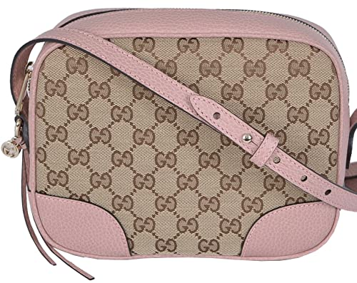 d76bfaf61d2 Gucci Women s Beige Pink Canvas Leather GG Guccissima Bree Crossbody Purse   Amazon.ca  Shoes   Handbags