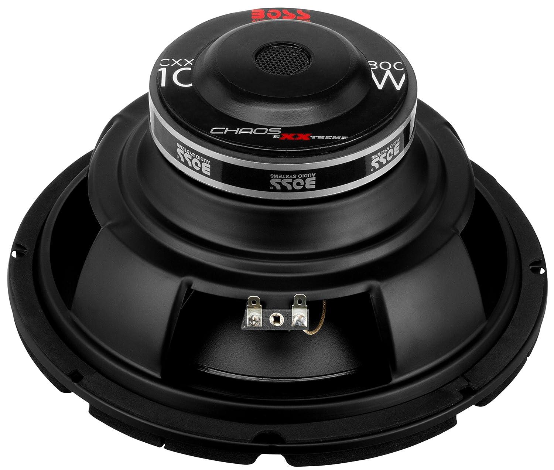 Amazon.com: Boss Audio CXX10 800 Watt, 10 Inch, Single 4 Ohm Voice Coil Car  Subwoofer: Car Electronics