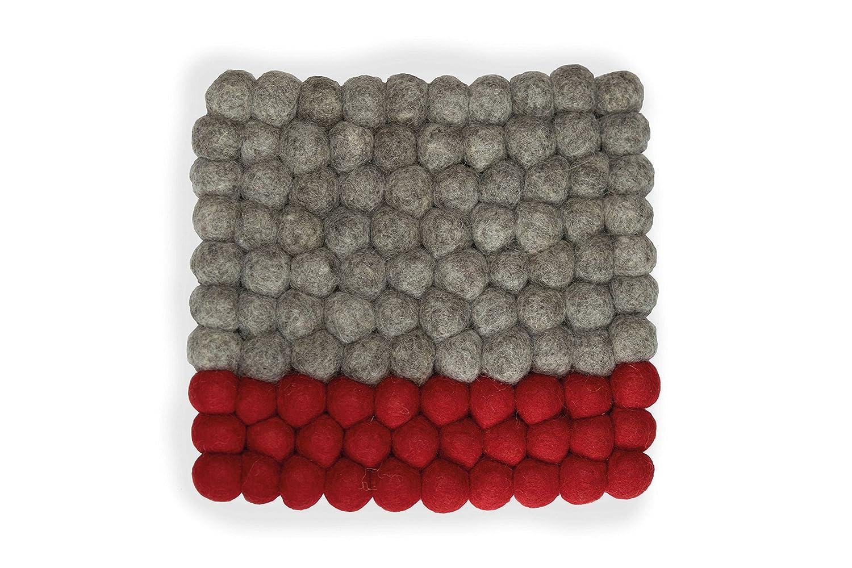 hitzebest/ändig Maharanis Fairtrade Filz Untersetzer Topf Untersetzer anthrazit quadratisch 22 x 22 cm handgefertigt aus reiner Wolle