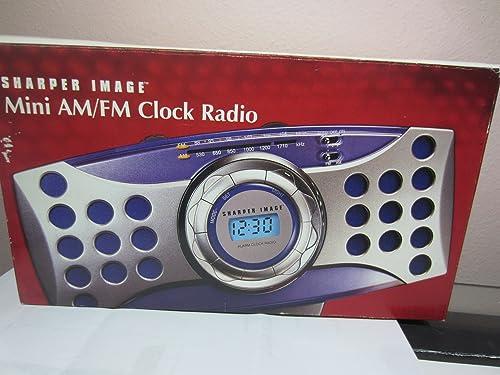 Sharper Image Mimi Digital Am fm Clock Radio Alarm Gm107