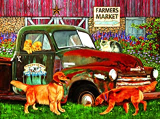 product image for Woody Acres 1000 Pc Jigsaw Puzzle - Farm House Theme - by SunsOut