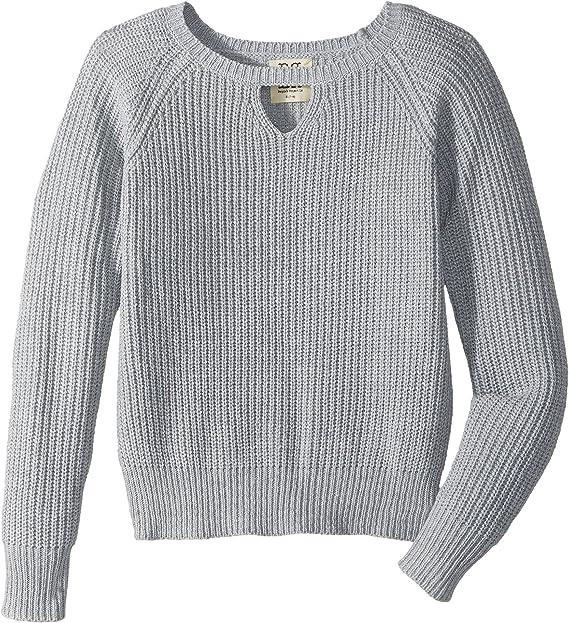9e1903380134 Amazon.com: People's Project LA Kids Girl's Braxten Knit Sweater (Big Kids)  Grey Small: Clothing
