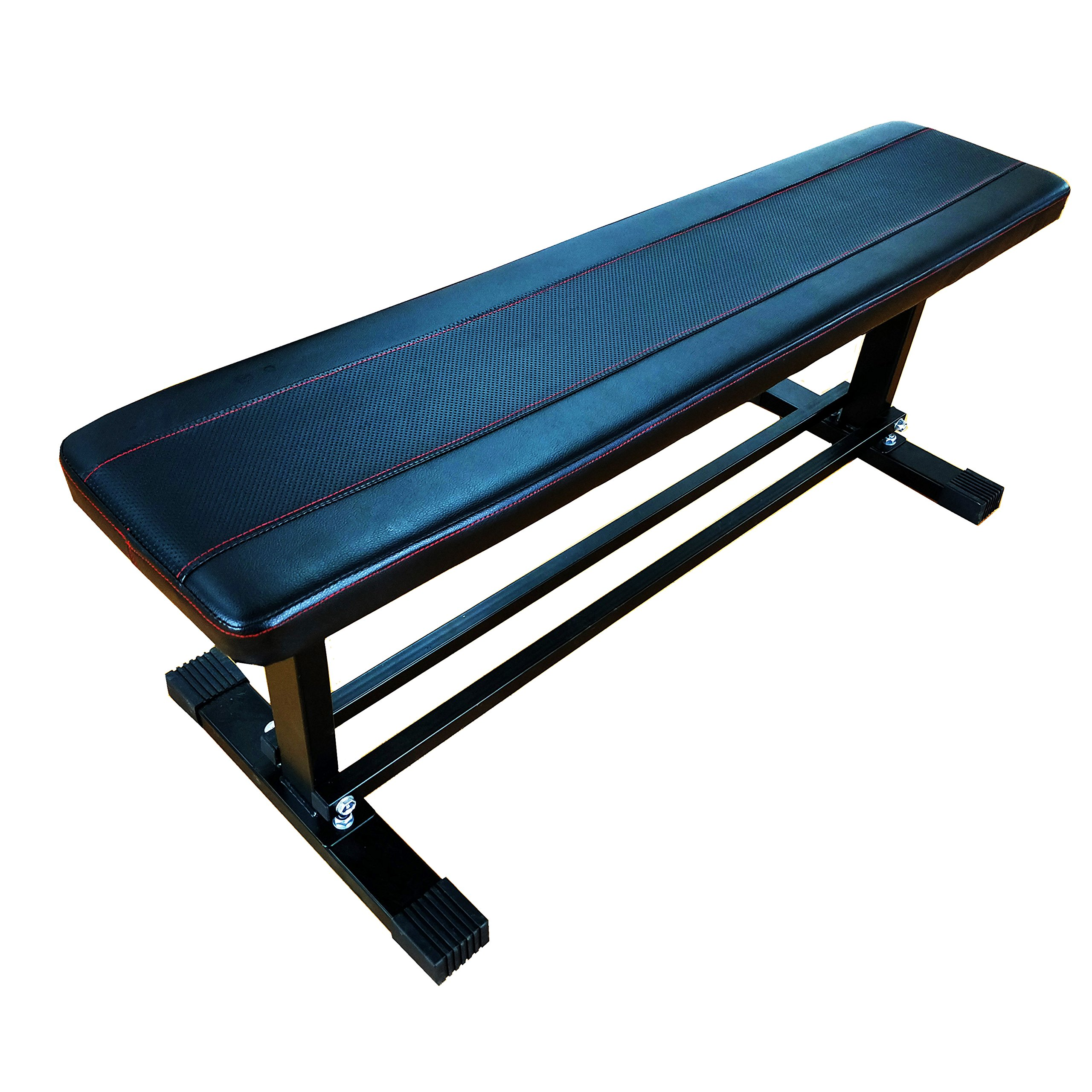 BalanceFrom Steel Frame Flat Weight Training Bench with Cross Bars, 1000-LBS Capacity