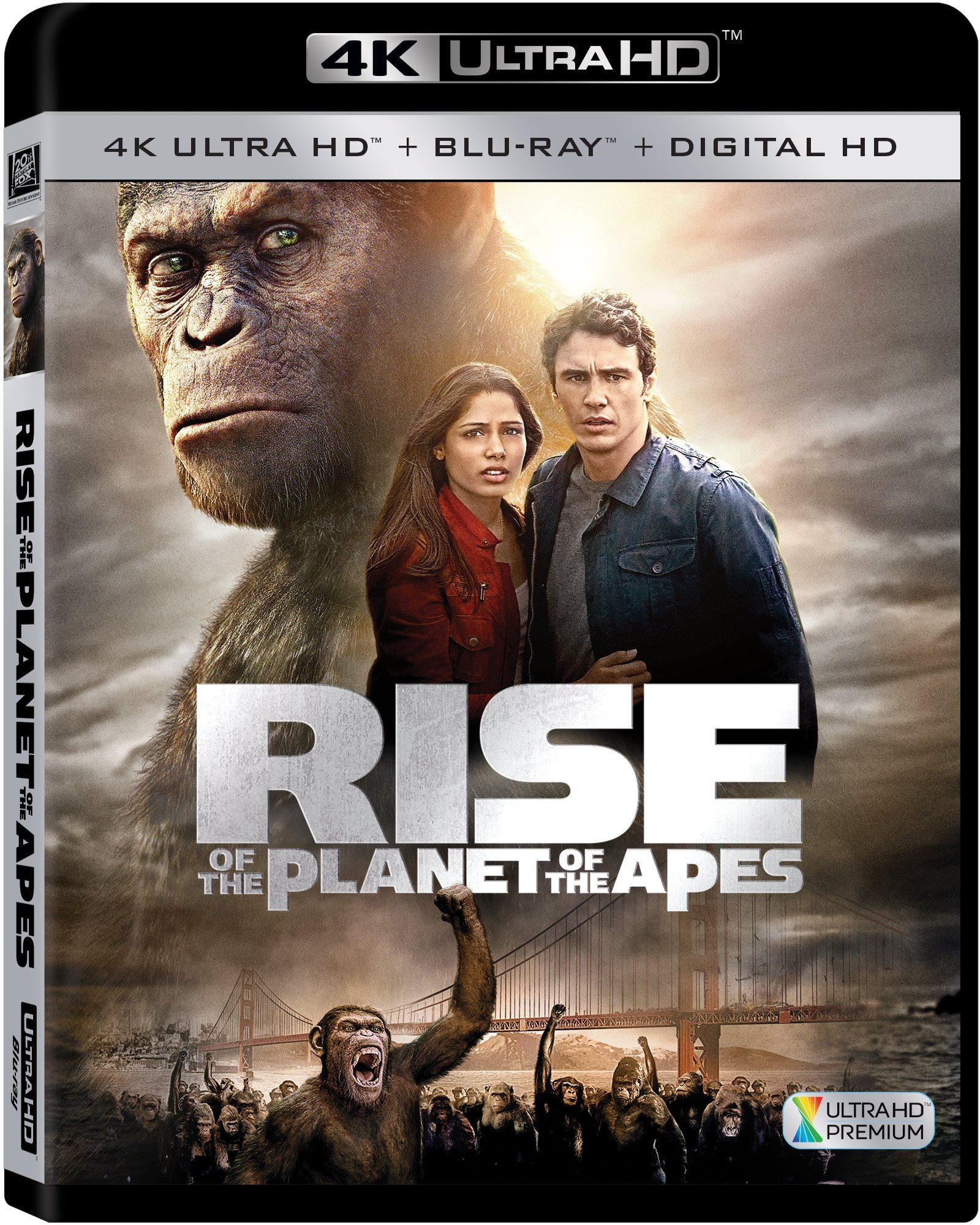 4K Blu-ray : Rise of the Planet of the Apes (With Blu-Ray, 4K Mastering, Widescreen, Dolby, AC-3)