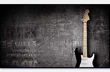 wandmotiv24 Cuadro de Lienzo Guitarra eléctrica 90x50cm (Ancho x ...