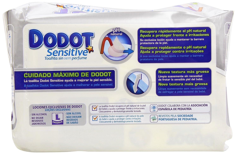 Dodot Sensitive Toallitas para Bebé - 3 paquetes de 2 x 54 toallitas - Total: 324 unidades: Amazon.es: Salud y cuidado personal