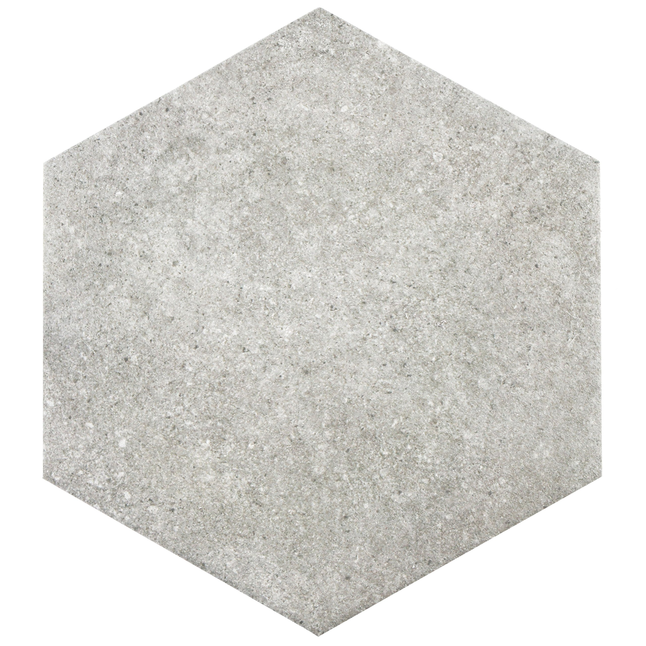 SomerTile FCD10TGX Cirra Hex Porcelain Floor and Wall Tile, 8.625'' x 9.875'', Grey by SOMERTILE