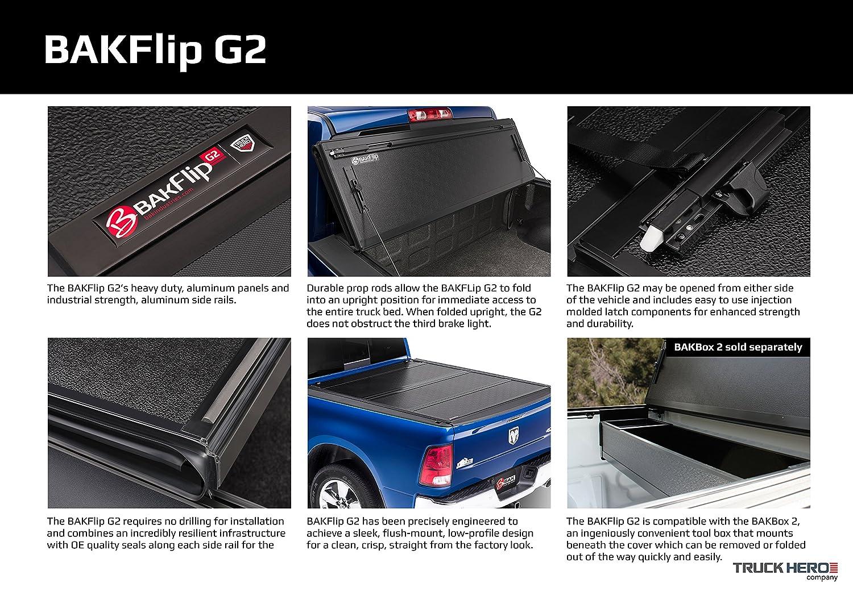 fits 2014-19 GM Silverado Bak Industries Flip G2 Hard Folding Truck Bed Tonneau Cover 226121 Sierra 6 6 Bed