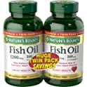 180-Count Nature's Bounty Fish Oil Softgels 1200 mg Twin Packs