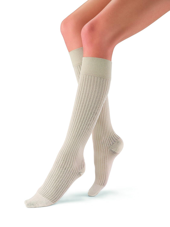 Jobst soSoft Women Ribbed Knee Highs 20-30mmHg, S, Sand by Jobst B00VS46JGQ