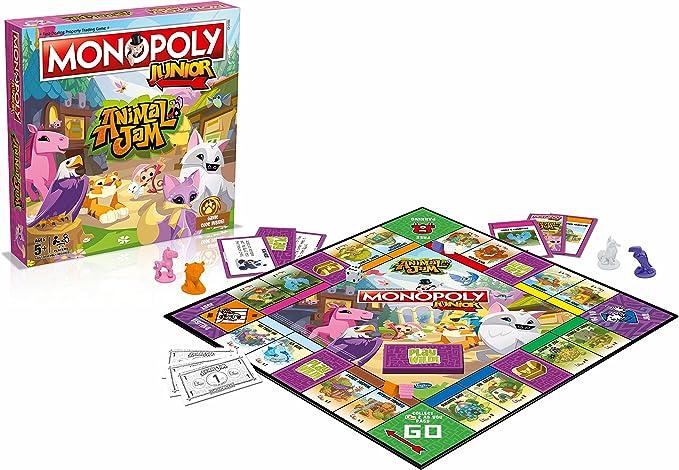 Winning Moves Juego de tavolo-Monopoly Junior Animal Jam, 31165: Amazon.es: Juguetes y juegos