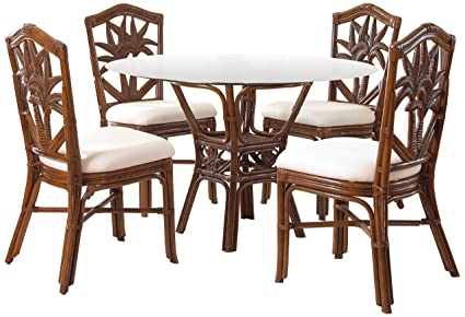 Genial Hospitality Rattan 5 PC SET 401 D TCA S Cancun Palm 5