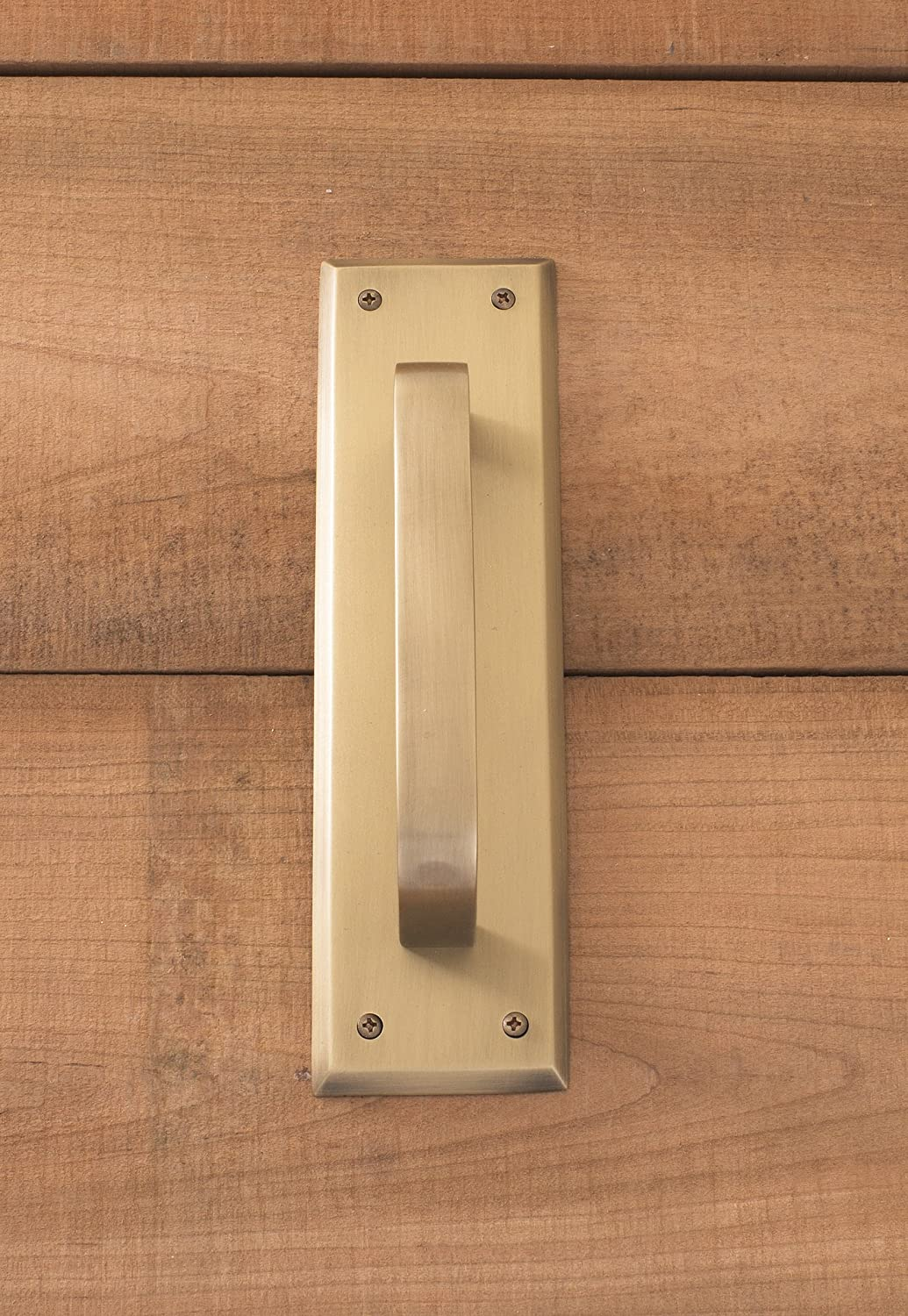 BRASS Accents A07-P5401-619 Quaker Pull Plate Satin Nickel 2-3//4 x 10