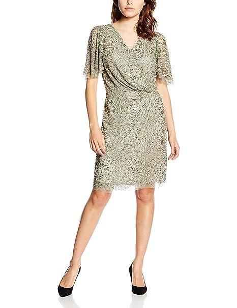 Pedro del Hierro Vestido Pedreria Corto, Pantalones para Mujer, Greys, 2