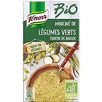 Knorr Soupe Liquide Bio Mouliné de Légumes Verts Touche de Basilic 1 L