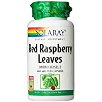Solaray Red Raspberry Leaves Capsules, 400 mg   100 Count