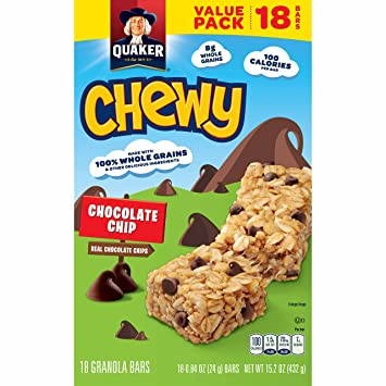Amazon quaker chewy granola bars chocolate chip 18 bars quaker chewy granola bars chocolate chip 18 bars ccuart Image collections