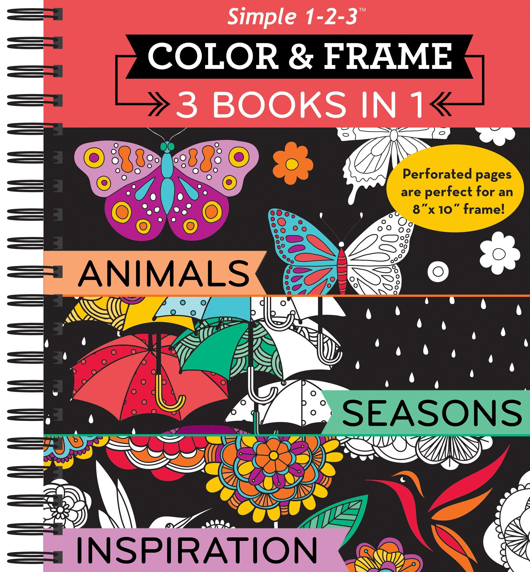 Color & Frame Coloring Book - 3 in 1 - Animals, Seasons & Inspiration ebook