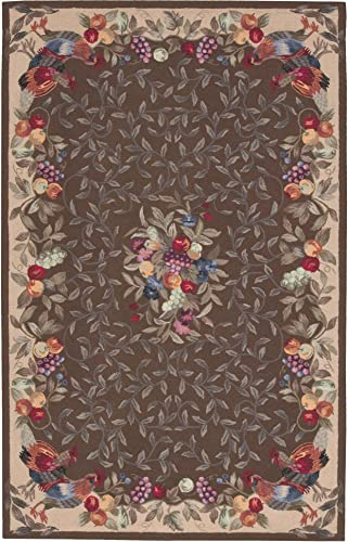 Nourison Country Heritage H358 Khaki Rectangle Area Rug, 8-Feet by 11-Feet 8 x 11