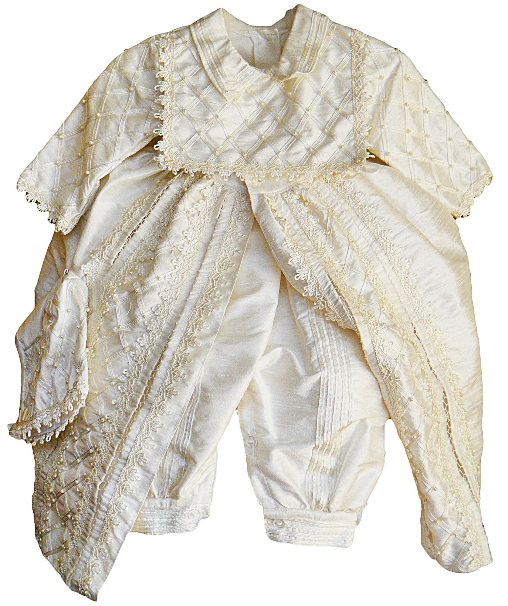 Handmade 100% Silk Christening Baptism Outfit for Boys (Burbvus Ropones)