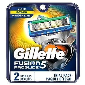 Gillette Fusion5 ProGlide Men's Razor Blades, 2 Count Blade Refills