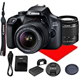 Canon EOS 4000D DSLR Camera w/Canon EF-S 18-55mm F/3.5-5.6 III Zoom Lens