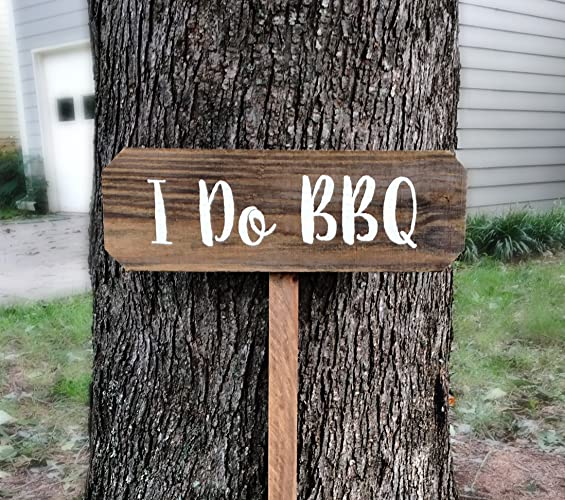 Amazon I Do Bbq Sign Rustic Wedding Yard Signs With Stakes