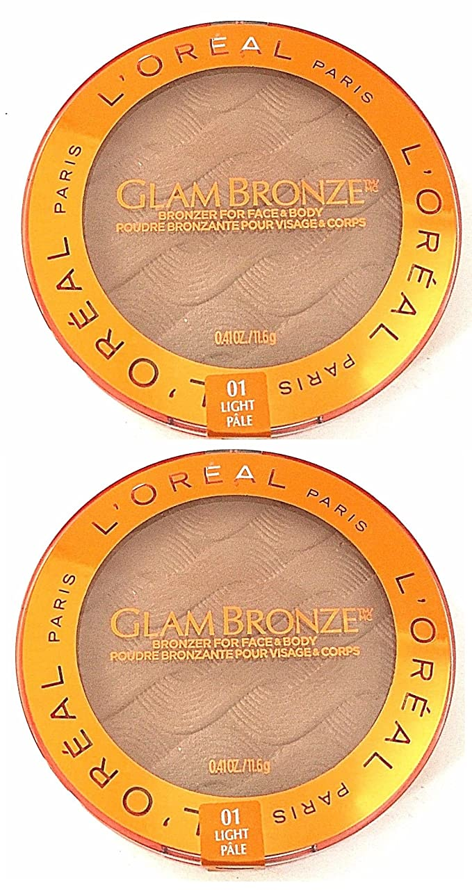 2 PACK L'Oreal Glam Bronze for Face & Body Bronzer, 01 Light L'Oreal Paris