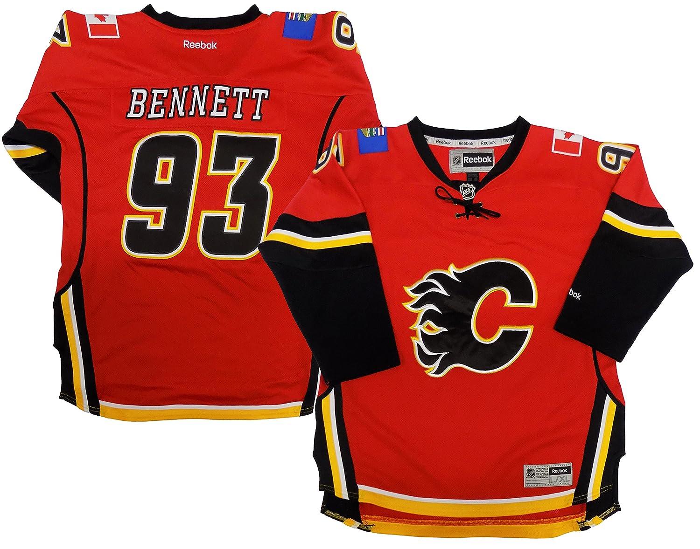 wholesale dealer d03bf 7b93e Amazon.com: Sam Bennett Calgary Flames Youth Red Premier ...
