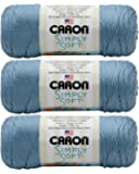 (3-Pack) Caron Simply Soft 100% Acrylic Yarn ~ LIGHT COUNTRY BLUE # 9709 ~ 6 oz. Skeins