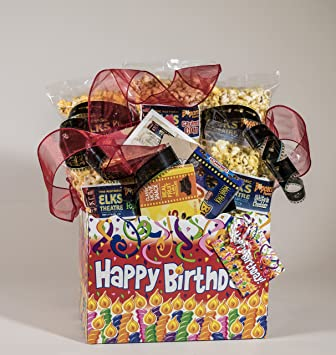 Birthday Candles Gourmet And Theater Popcorn Gift Basket Amazon