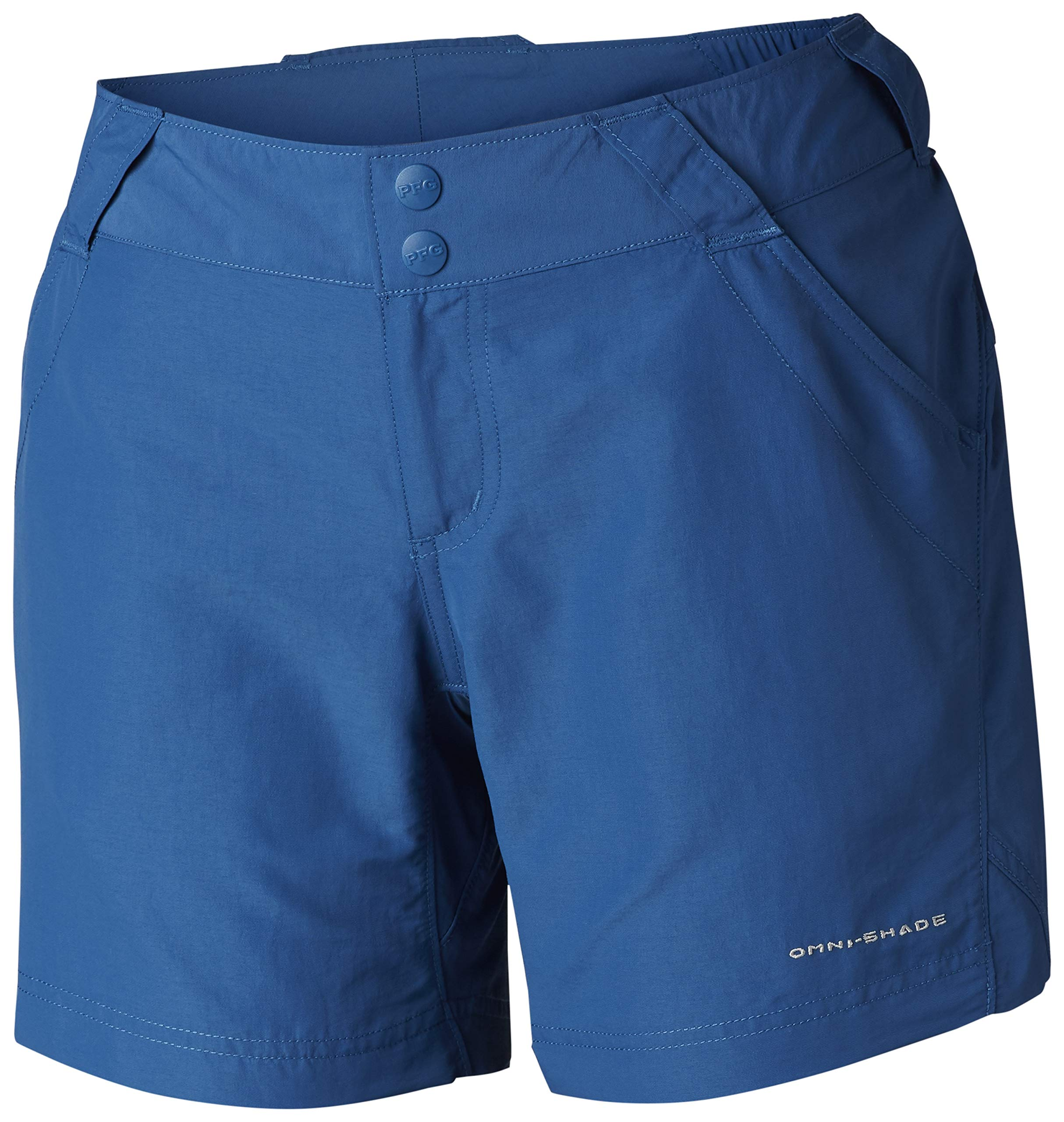 Columbia Women's Coral Point II Short, UV Sun Protection, Moisture Wicking Fabric , Impulse Blue , X-Large x 6'' Inseam by Columbia
