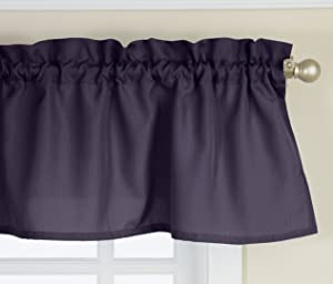 Lorraine Home Fashions Ribcord Valance, 54-Inch x 12-Inch, Navy