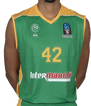 Bigsport Replica Howard Eurocup Limoges CSP Exterior - Camiseta de Baloncesto para niño, Niño, Color Verde, tamaño Small: Amazon.es: Deportes y aire libre