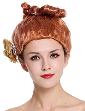 WIG ME UP ® - CXH-005-P130 Peluca Mujer Carnaval Halloween Rosa roja