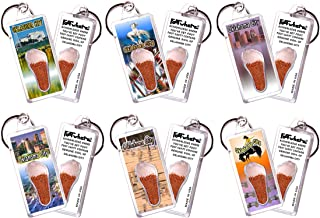 product image for Oklahoma City FootWhere Souvenir Keychains. 6 Piece Set. Made in USA