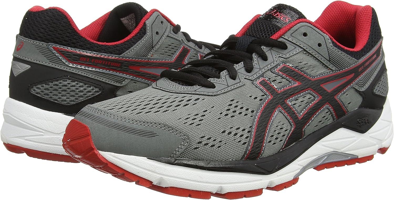 ASICS Gel-Fortitude 7 - Zapatillas de Running para Hombre, Color Gris (Mix Grey/Black/Red 1590), Talla 43.5: Amazon.es: Zapatos y complementos