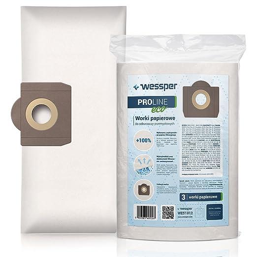 Wessper Bolsas de aspiradora para Parkside PNTS 30/8E (3 ...