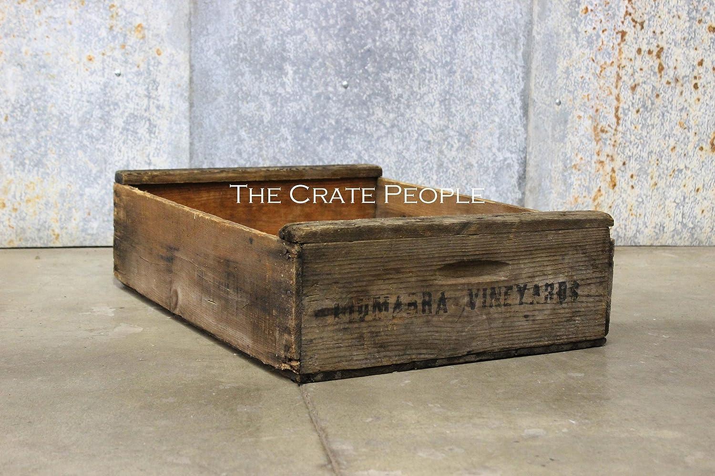 Vintage Rustic SHORT Grape Crate | hundreds available | vintage crates