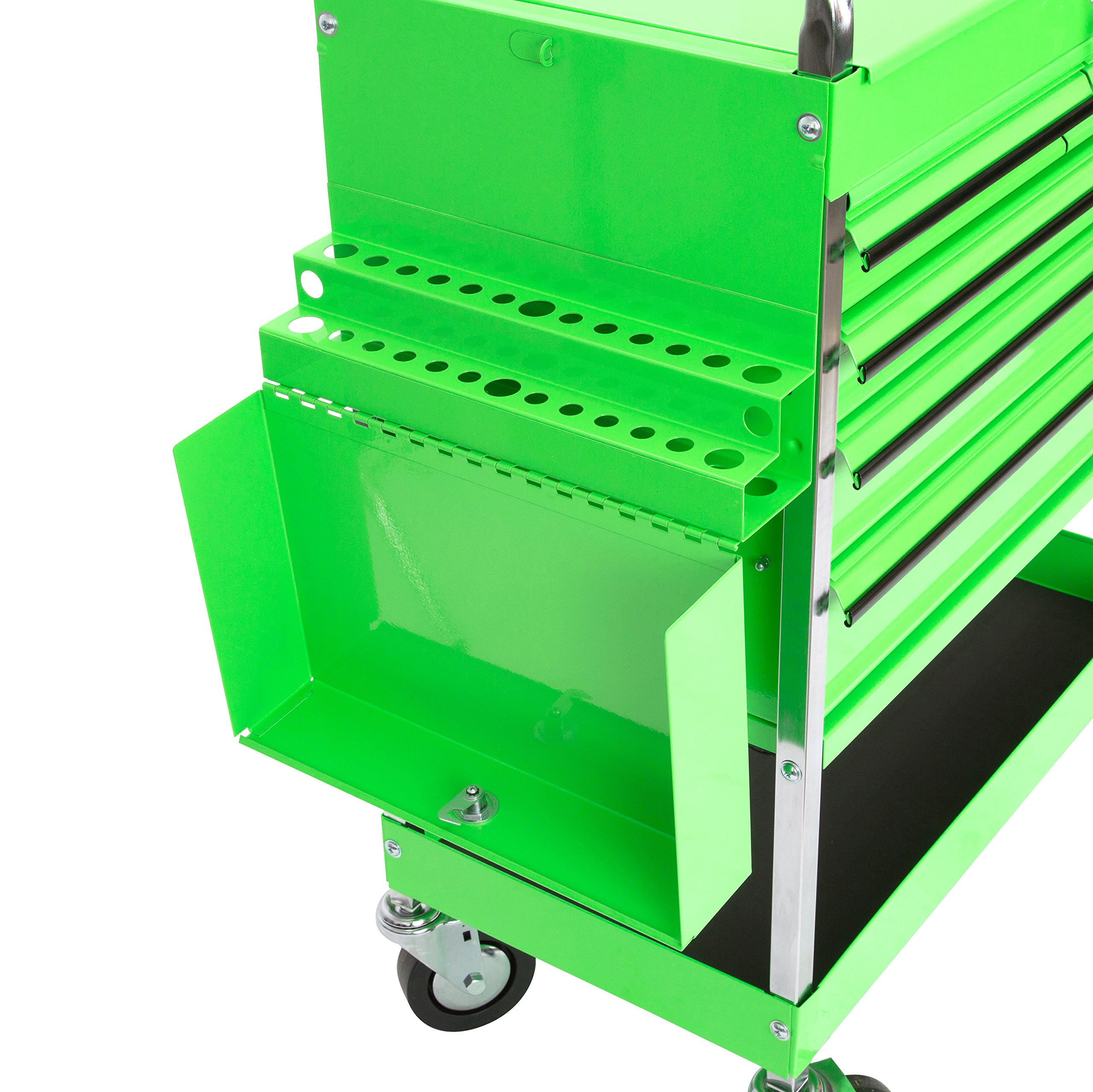 Professional Service Cart - 5 Drawer and 1 Tray (Green) by OEMTOOLS (Image #8)
