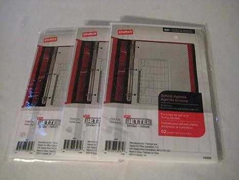 amazon com staples better binder school agenda office products