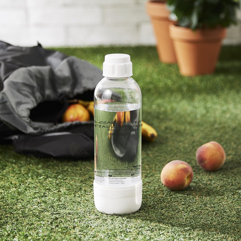 Levivo Bouteille /à soda blanc Plastique 8x8x28 cm 1.0L cylindre de CO2