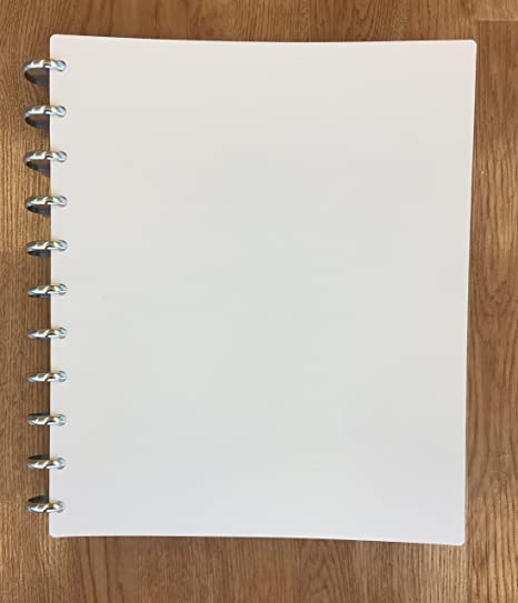 Amazon.com: Talia discbound cuaderno, cubierta blanca ...